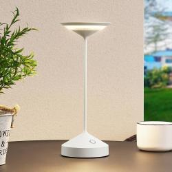 Lucande Lucande Raminum venkovní stolní lampa LED, bílá