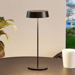 Lucande Lucande Tibia stolní lampa LED, USB, černá