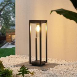 Lindby Lindby Estami světlo na soklu, 50 cm, tmavě šedá