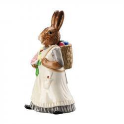 Porcelánový králík s košem Rabbit Collection Rosenthal 14 cm
