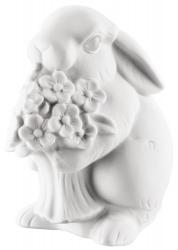 Porcelánový králík s květinou Rabbit Collection Rosenthal bílý 10 cm