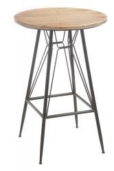 J-Line by Jolipa Barový stolek BISTRO - Ø  65 * 99cm
