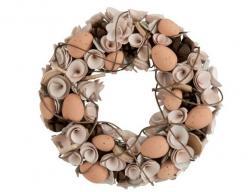 J-Line by Jolipa Velikonoční věnec s vajíčky Eggs - Ø 32*8 cm