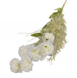 Collectione Bílo-fialová kytička Ema - 54 cm