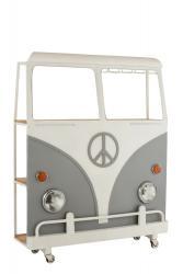 J-Line by Jolipa Bar s vinotékou šedé auto Hippie nakolečkách - 137*41*175 cm