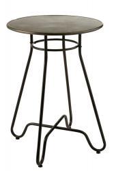 J-Line by Jolipa Černý kovový barový stolek Industrial - Ø70 * 99cm