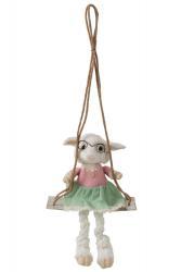 J-Line by Jolipa Dekorace ovečka na houpačce Sheep - 28*20*29cm