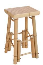 J-Line by Jolipa Barová bambusová stolička Bamb - 40*40*70 cm