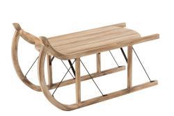 J-Line by Jolipa Odkládací stolek dřevěné sáňky Sleit  - 100*43*56cm
