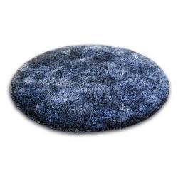 3kraft Kulatý koberec SHAGGY NARIN černo-fialový