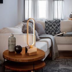 Schuller Stolní lampa LED Colette krásný design růžovozlatá