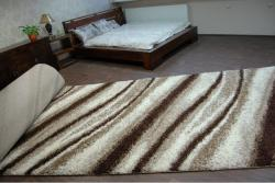 3kraft Kusový koberec SHAGGY Aga světle béžový