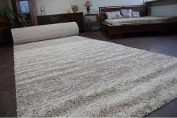 3kraft Kusový koberec SHAGGY Loba 5cm béžový