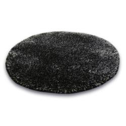 3kraft Kulatý koberec SHAGGY NARIN černý meloun