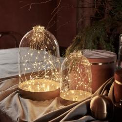 Sirius LED dekorativní světlo Dome Gold, výška 23 cm