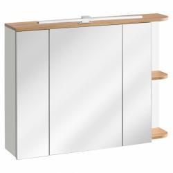 Hector Koupelnová skříňka Platinum bílá/dub