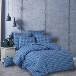 BedTex Bavlněné povlečení Snorri modrá, 140 x 200 cm, 70 x 90 cm