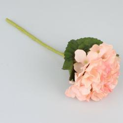 Umělá hortenzie sv. oranžová, 36 cm