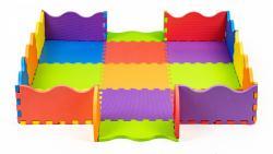 ECOTOYS Pěnová podložka pro děti s plotem 91x91 cm 25 kusů