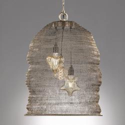 FISCHER & HONSEL Ano závěsné svítidlo s klecovým stínidlem Ø 52 cm