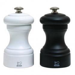 Peugeot Dárkový set mlýnků na pepř a sůl Bistro černo/bílý, bukové dřevo 10 cm