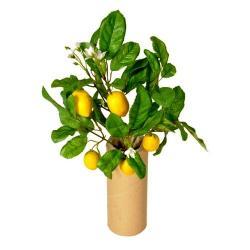 Umělý Mini citroník s plody, 30 cm