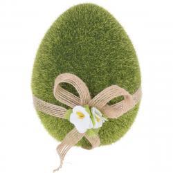 Velikonoční dekorace Zelené vajíčko, 11 cm
