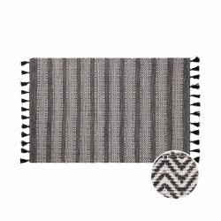 DÉJÀ VU Vnitřní a venkovní koberec - černá/bílá