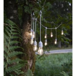 Bílý venkovní světelný LED řetěz Best Season String, 10 světýlek