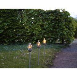 Sada 3 venkovních světelných LED dekorací Best Season Olympus, výška 40 cm