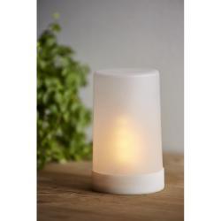 Bílá LED venkovní světelná dekorace Best Season Candle Flame, výška 14,5 cm