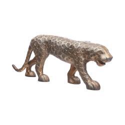 GOLDEN NATURE Dekorační leopard