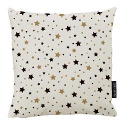 Vánoční polštář s bavlněným povlakem Butter Kings Golden Stars,45x45cm