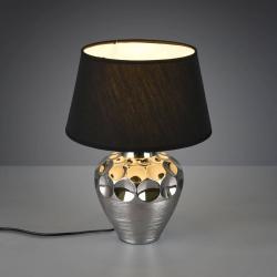 Reality Leuchten Stolní lampa Luanda, keramika a textilie, Ø 30 cm