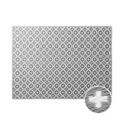 COLOUR CLASH Vnitřní a venkovní koberec mozaika 200 x 150 cm - šedohnědá