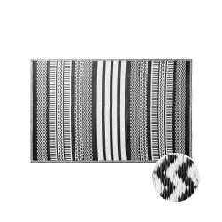 COLOUR CLASH Vnitřní a venkovní koberec ethno 180 x 120 cm - černá/bílá