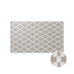 COLOUR CLASH Vnitřní a venkovní koberec kosočtverce 150 x 90 cm - přírodní