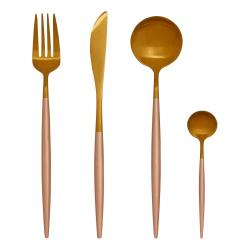 Sada 16 příborů ve zlaté barvě z nerezové oceli Premier Housewares Avie