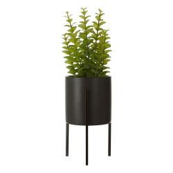 Umělá květina tymiánu v černém keramickém květináči Premier Housewares Fiori