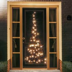 FAIRYBELL Silueta vánočního stromu dveře Fairybell® - 2,10 m