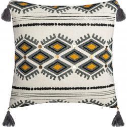 DekorStyle Bavlněný povlak na polštář Aztec 40x40 cm bílý