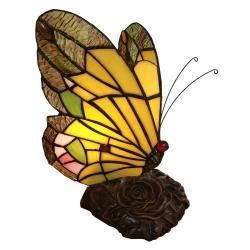 Clayre & Eef Dekorační světlo 6009, tvar motýla, styl Tiffany