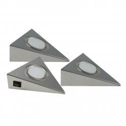 Heitronic LED podlinkové světlo Genua 3ks s vypínačem