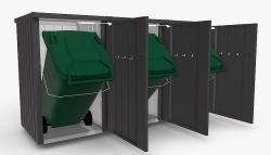 Biohort Box na popelnici BIOHORT Alex 3 (tmavě šedá metalíza)