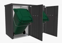 Biohort Box na popelnici BIOHORT Alex 2 (tmavě šedá metalíza)
