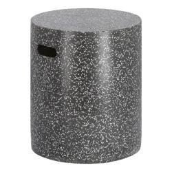Černý betonový odkládací stolek La Forma Jenell, ⌀ 35 cm