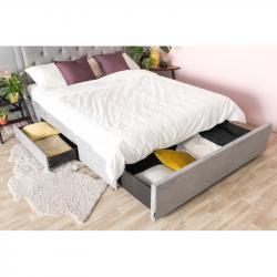 Hector Čalouněná postel Huller 2.0 140X200 šedá