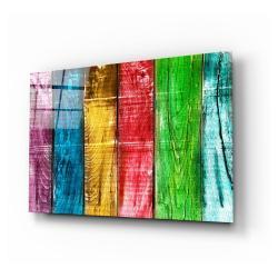 Skleněný obraz Insigne Colored Wood,110 x70cm