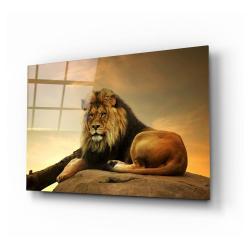 Skleněný obraz Insigne Lion,110 x70cm