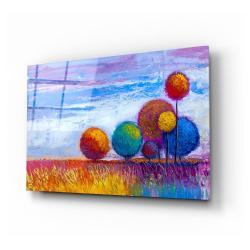 Skleněný obraz Insigne Colorful Trees,110 x70cm
